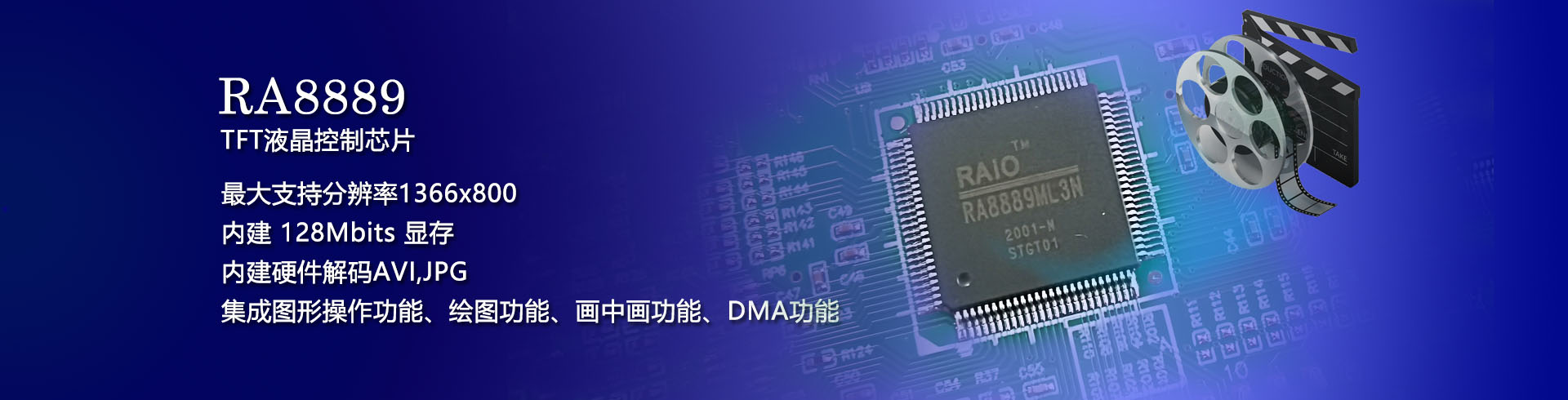 RA8889ML3N 单片机视频解码芯片 AVI JPG